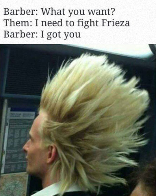 Gimme The Dragon Ball Haircut
