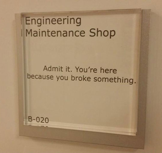Sign On The Engineering Department