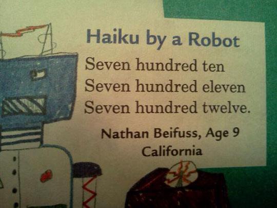 Haiku By A Robot