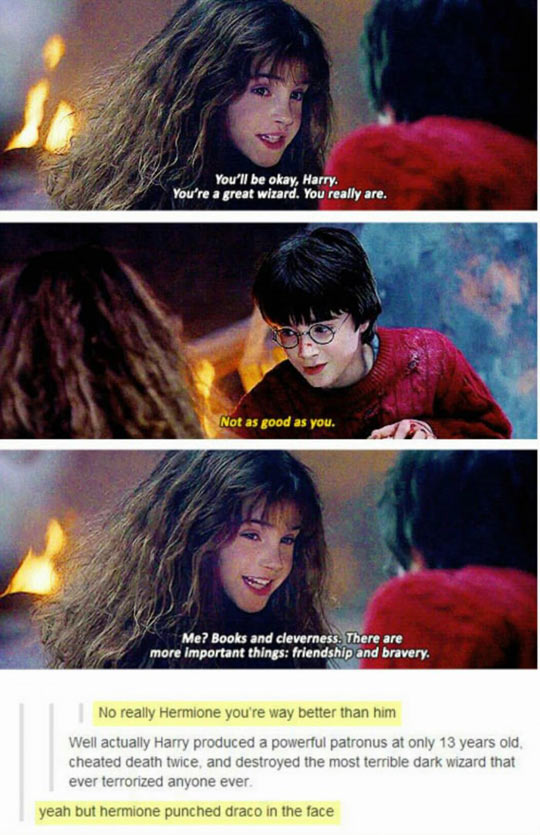 Hermione Was A Very Smart Kid