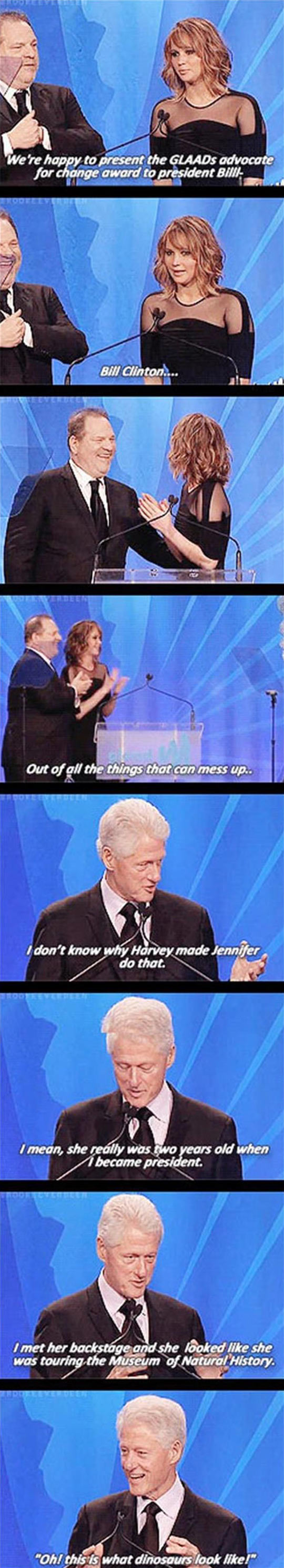 funny-Jennifer-Lawrence-present-Bill-Clinton