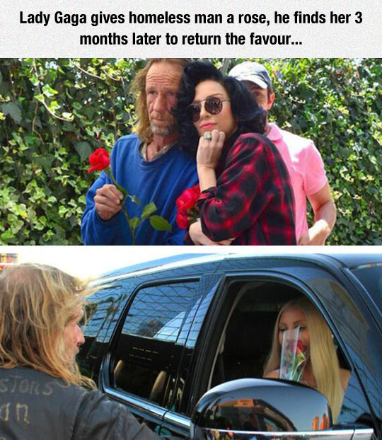 funny-Lady-Gaga-man-rose-homeless