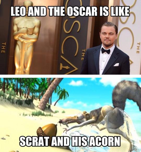 funny-Leo-DiCaprio-Oscar-Scrat-Acorn