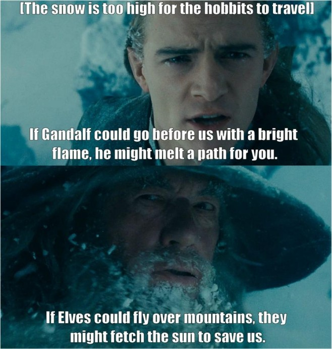 Book Gandalf Was Quite Sarcastic