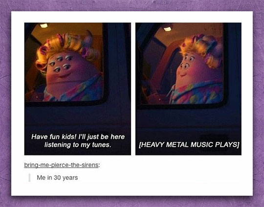 funny-Monsters-Inc-mother-listening-music