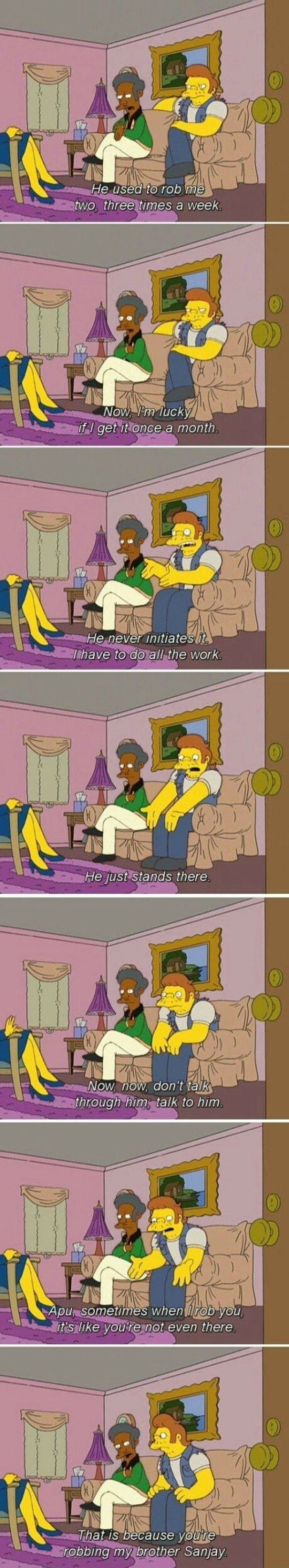 funny-Simpsons-relationships-Apu-Snake-therapy