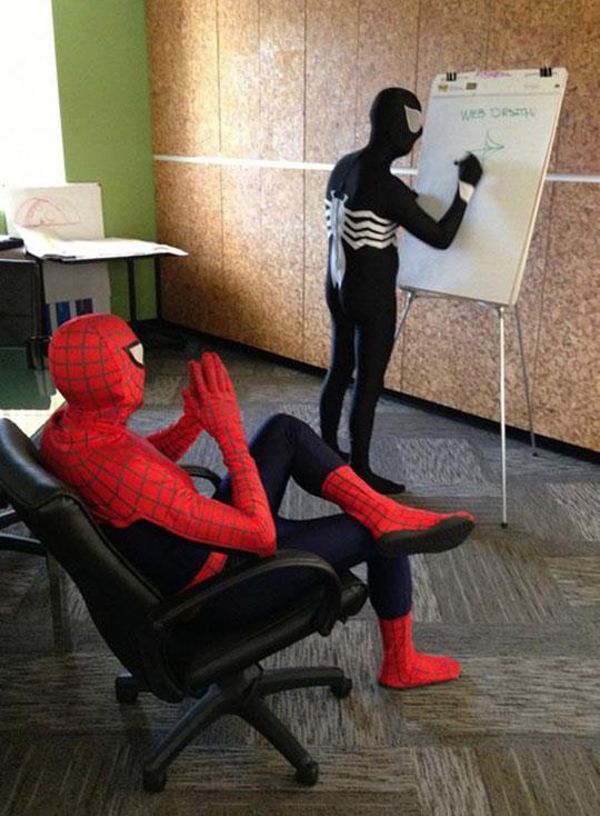 funny-Spiderman-Venom-web-design-office