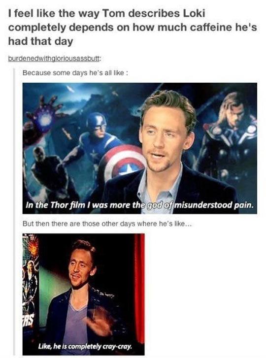 The Way Tom Hiddleston Describes Loki