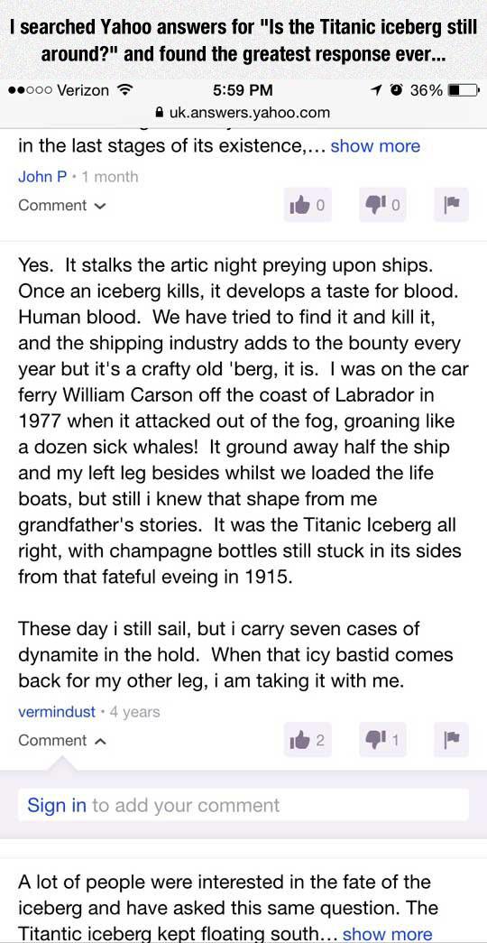 Is The Titanic Iceberg Still Around?