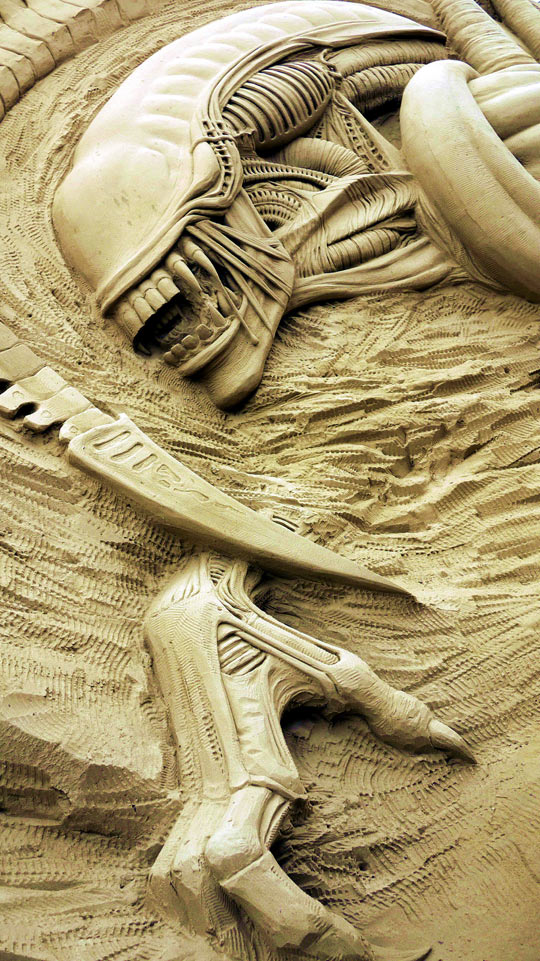 Alien Sand Sculpture
