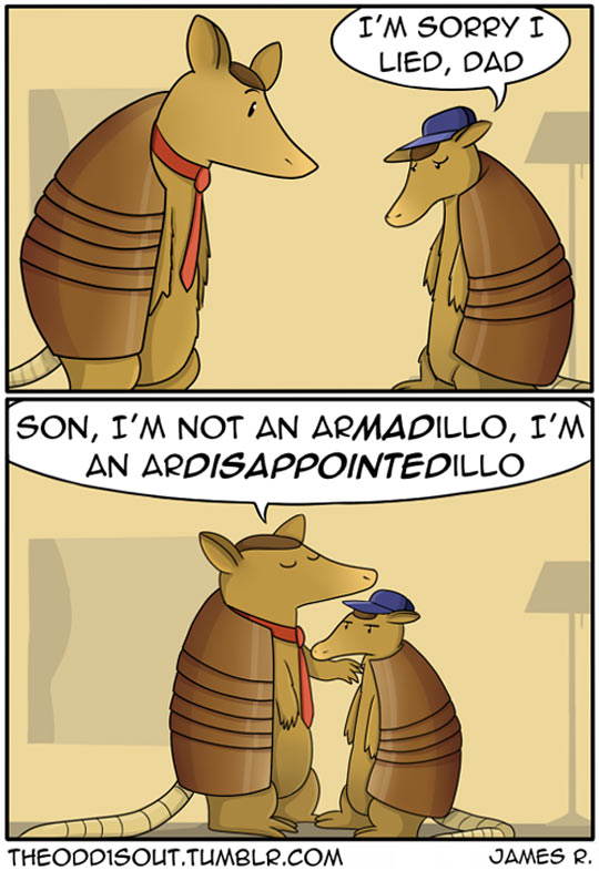 funny-armadillo-dad-joke-son-comic
