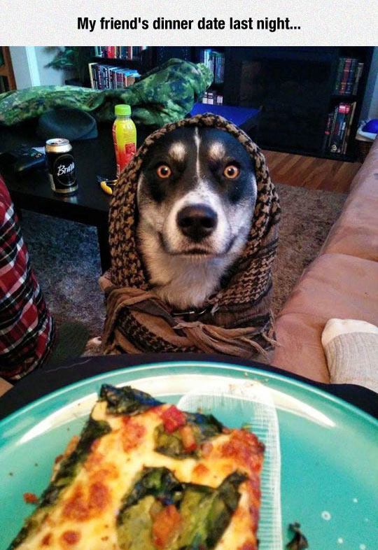 funny-boy-pizza-scarf-dinner-date