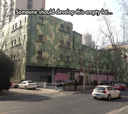 funny-building-camouflage-green-street
