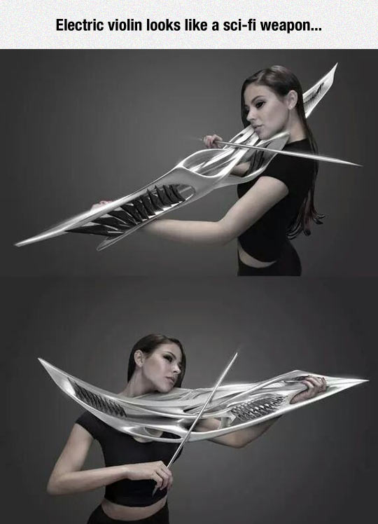 Metal Violin Looks Deadly
