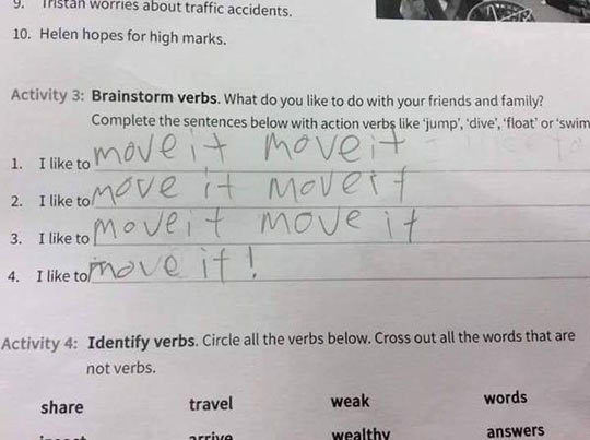 Answer On An English Exam Paper