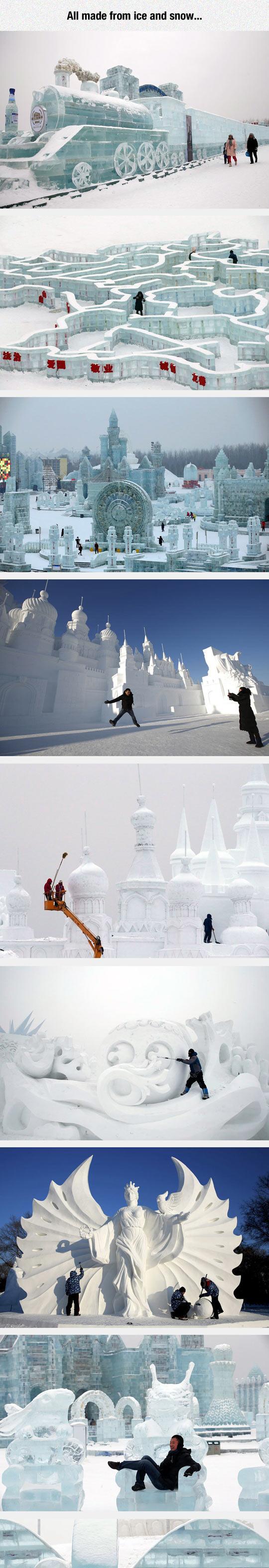 funny-ice-train-snow-winter-sculpture