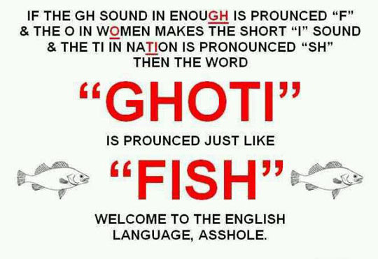 A Thought About The English Language