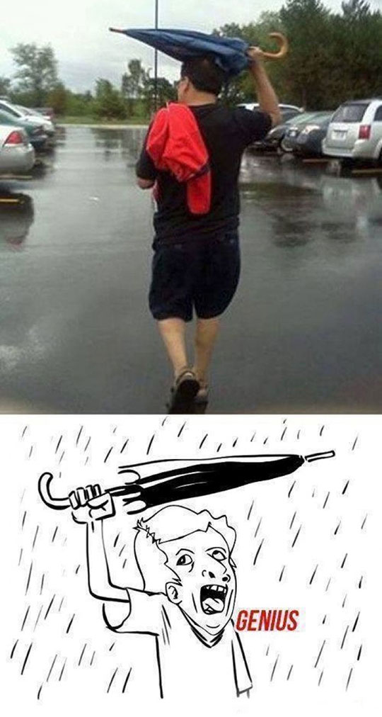 funny-man-umbrella-closed-raining