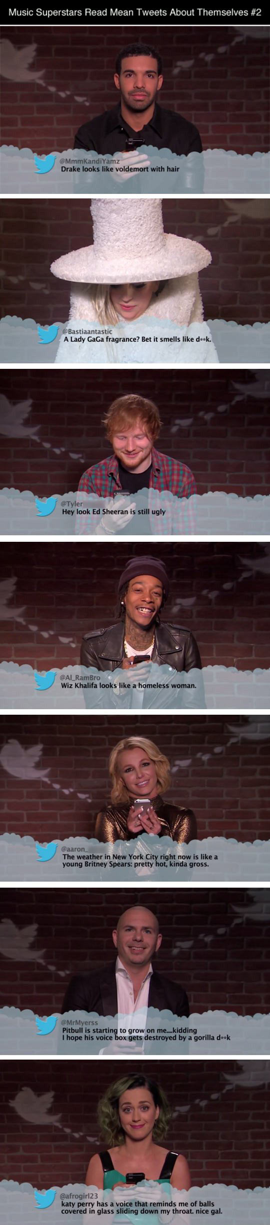 Music Superstars Read Mean Tweets
