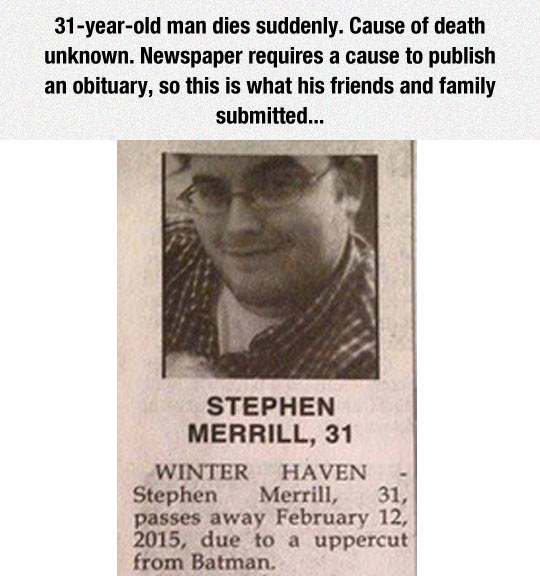 The Best Obituary Ever