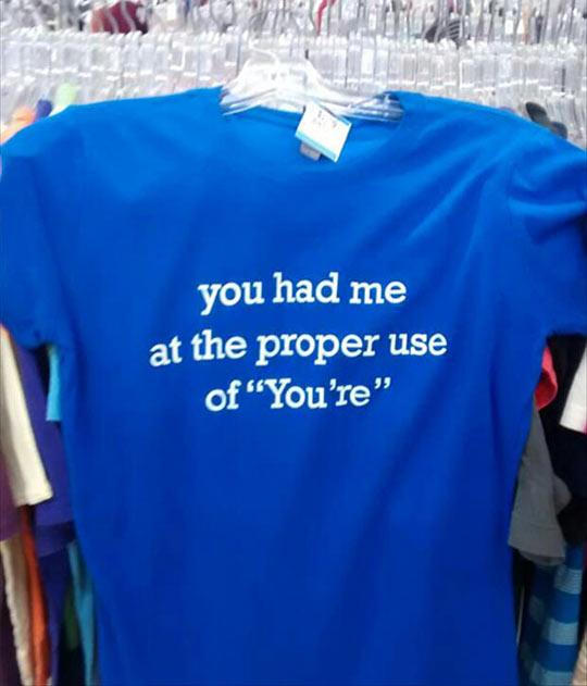 The Perfect Shirt For Grammar Lovers