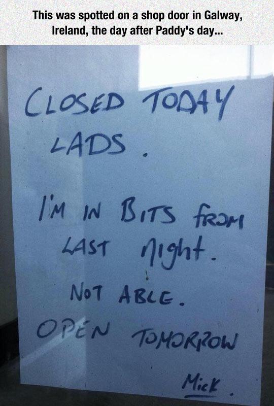The Most Irish Note I