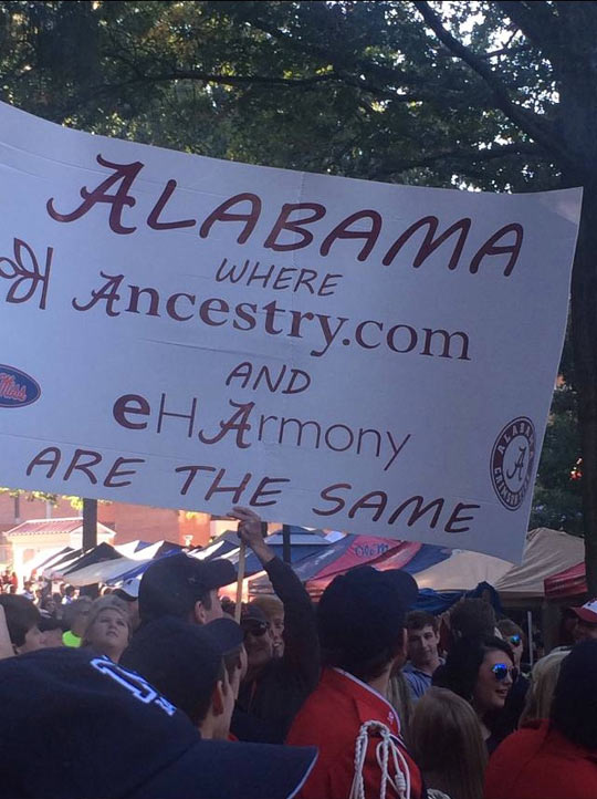 Best College Football Sign Ever