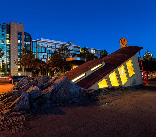 Subway Entrance In Germany