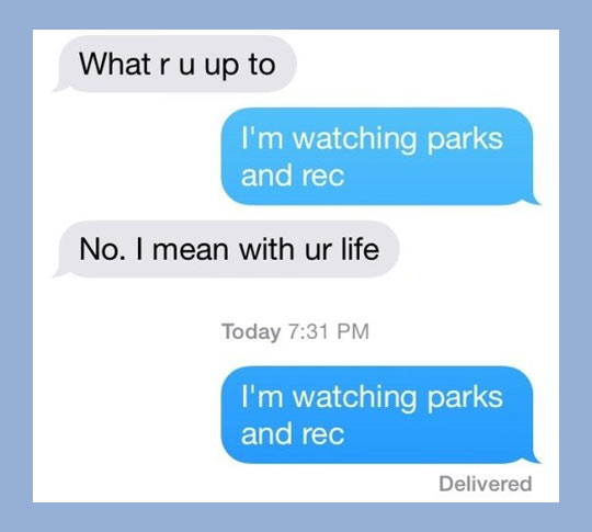 funny-watching-Parks-And-Rec-life