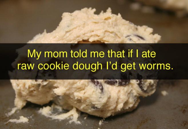 lies-parents-told-kids-raw-cookie-dough-worms