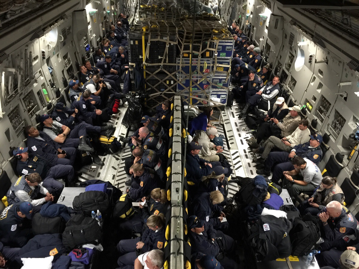 I am a pilot that was on the first American C-17 aid flight into Nepal. This is what we brought.