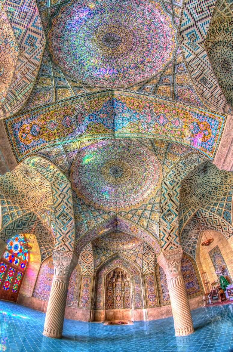 Interior of a mosque in Iran