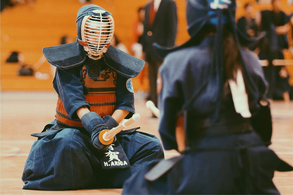 Me looking intense right before a kendo match