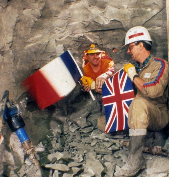 When both sides of the channel tunnel first met 1990