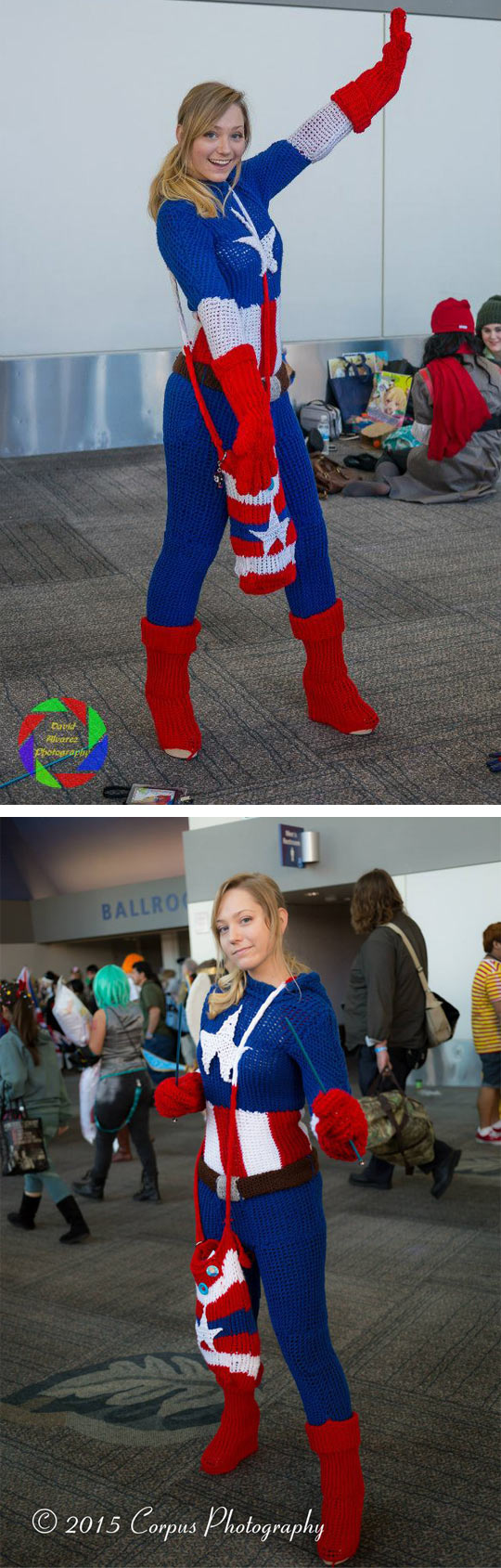 Captain America Knitted Costume