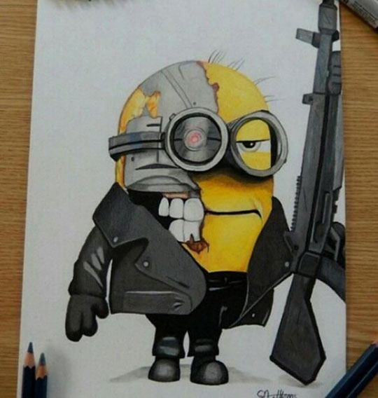 cool-Minion-drawing-Terminator-weapon