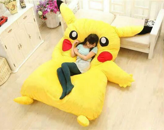 cool-Pikachu-bed-girl-room