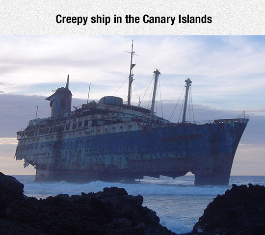 Creepy Ship In The Canary Islands