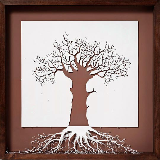 cool-frame-tree-art-paper-roots