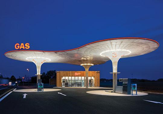 Futuristic Gas Station In Slovakia
