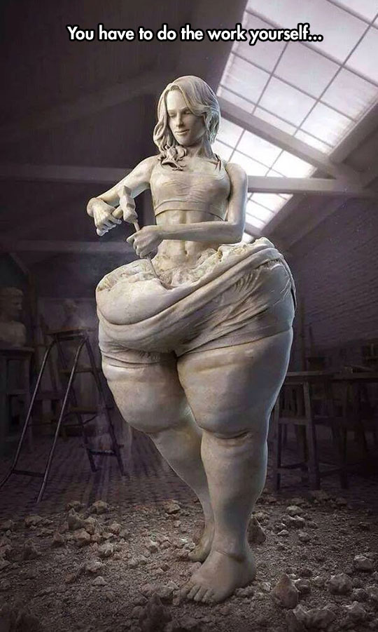 cool-marble-statue-shaving-herself-fat