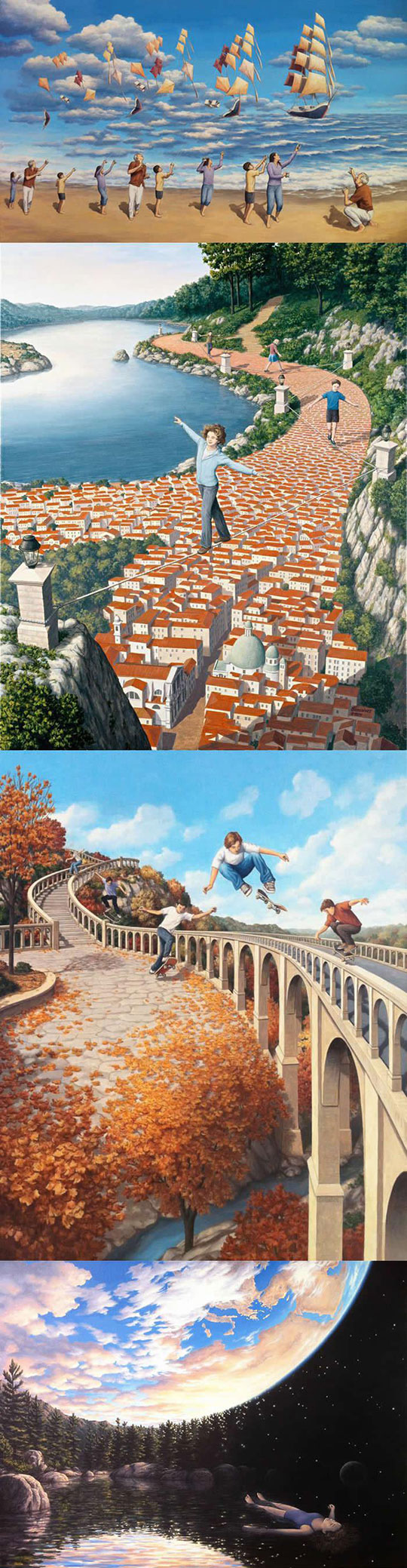 cool-paintings-optical-illusion-kids-playing