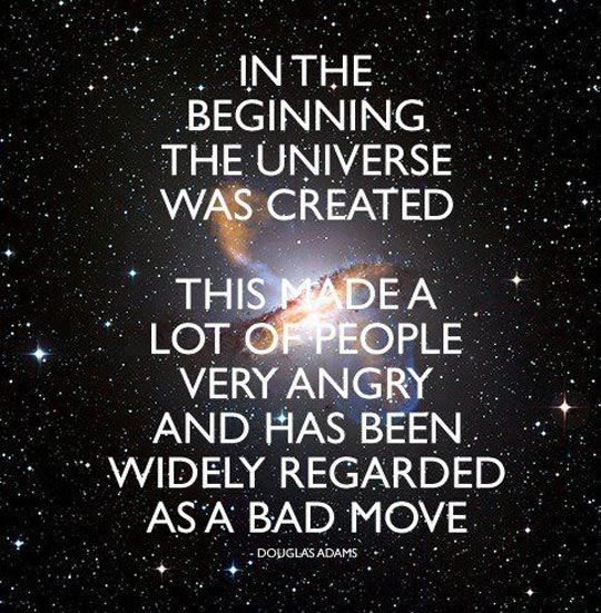 The Universe Was Created
