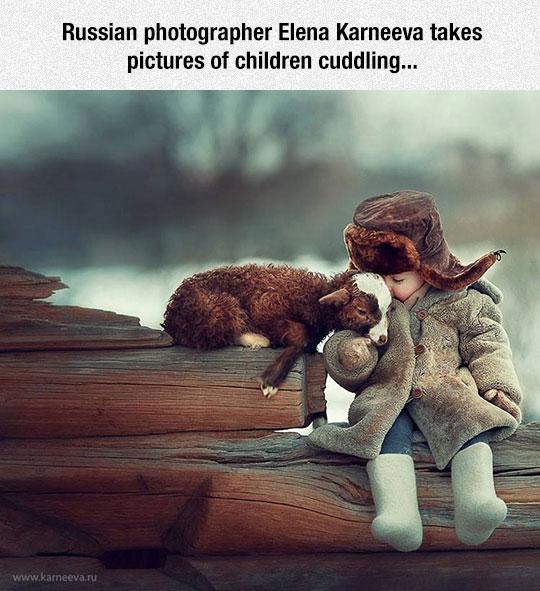 cute-kid-cuddling-baby-goat