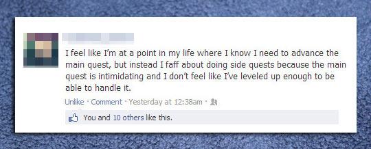 Intimidating facebook statuses