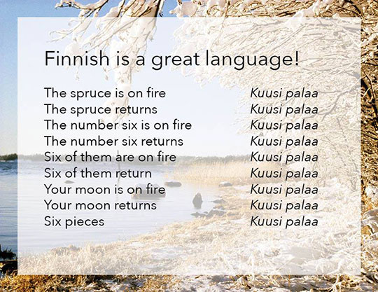 Finnish Is A Great Language