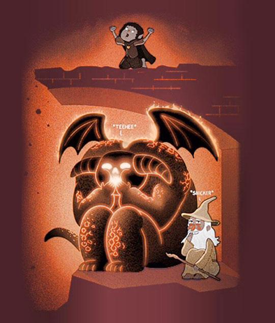 funny-Gandalf-LotR-hiding-under-bridge
