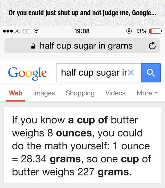 Judgmental Google