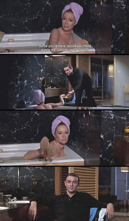 funny-James-Bond-girl-bath-shoes