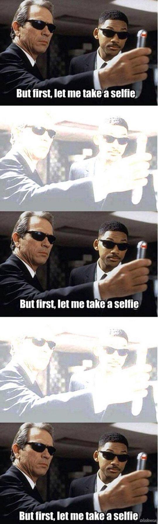 First Let Me Take A Selfie